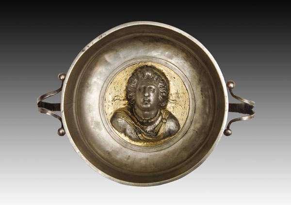 Bowl with a relief bust of King Psokhas